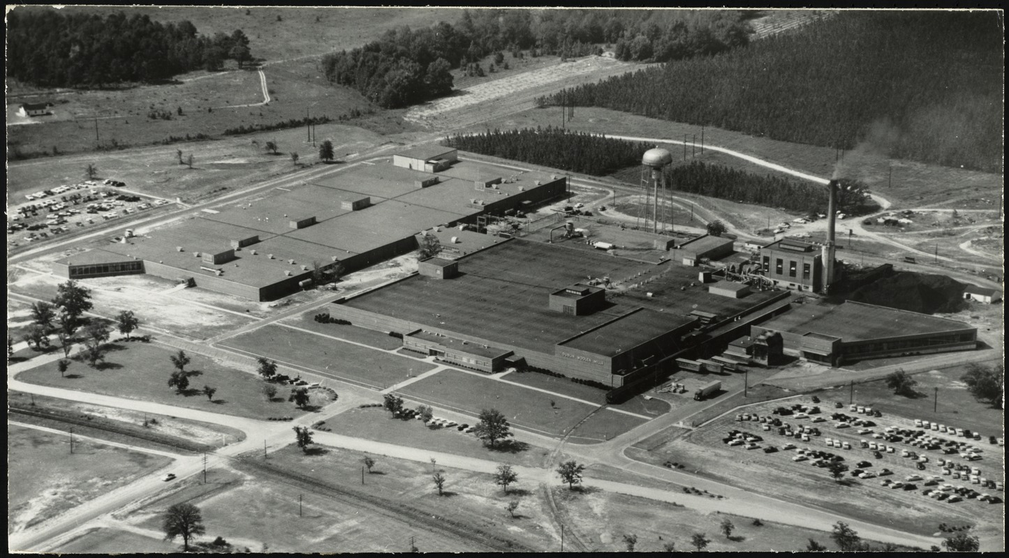 Aerial view of the Dublin Plant and Nathaniel Plant of J.P. Stevens & Co., Inc. in Dublin, Ga. [graphic]