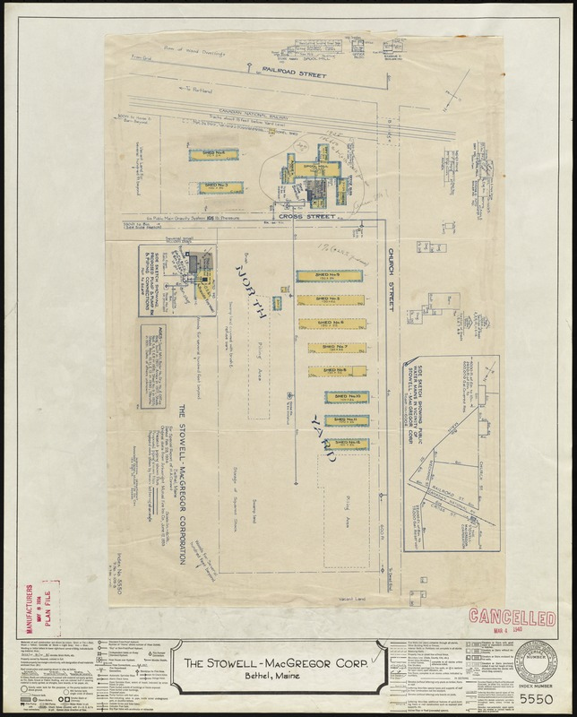 The Stowell Macgregor Corp Bethel Maine Insurance Map