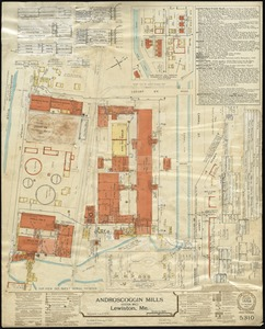 Androscoggin Mills (Cotton Mill), Lewiston, Me. [insurance map]