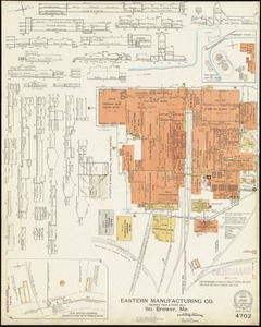 Eastern Manufacturing Company (Sulphite Pulp & Paper Mill), South Brewer, Me. [insurance map]