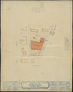 James F. Crosson & James Dutton doing business as The Webco Garage, Fall River, Mass. [insurance map]