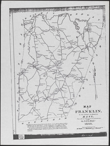 Map of Franklin, in the county of Norfolk, Mass.