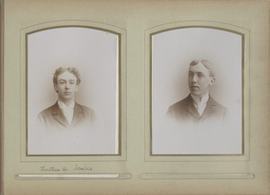 Newton High School, graduation 1895 & few 1896 - Luther D. Scales - Unidentified Male Student -