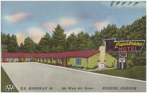 Capistrano Motel, U.S. Highway 99... 566 West 6th Street... Eugene, Oregon