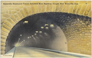 Bonneville Illuminated Tunnel, Columbia River Highway, Oregon, near Bonneville Dam