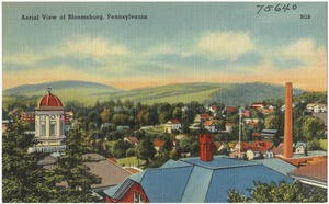 Aerial view of Bloomsburg, Pennsylvania