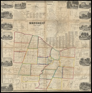 Gillette's map of Monroe Co., New York