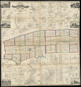 Map of Niagara and Orleans Counties, New York