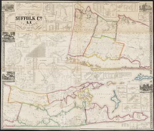 Map of Suffolk Co., L.I., New York