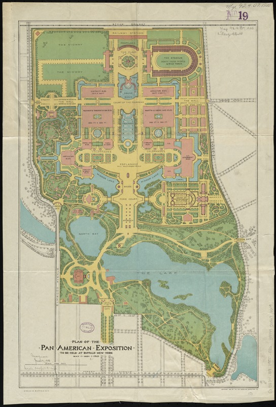 Plan of the Pan-American Exposition to be held at Buffalo, New York, May 1-Nov 1, 1901