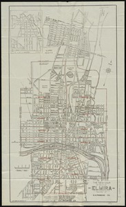The new map of the City of Elmira