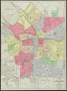 Map of the City of Syracuse, New York