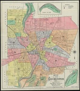 Map of the city of Rochester
