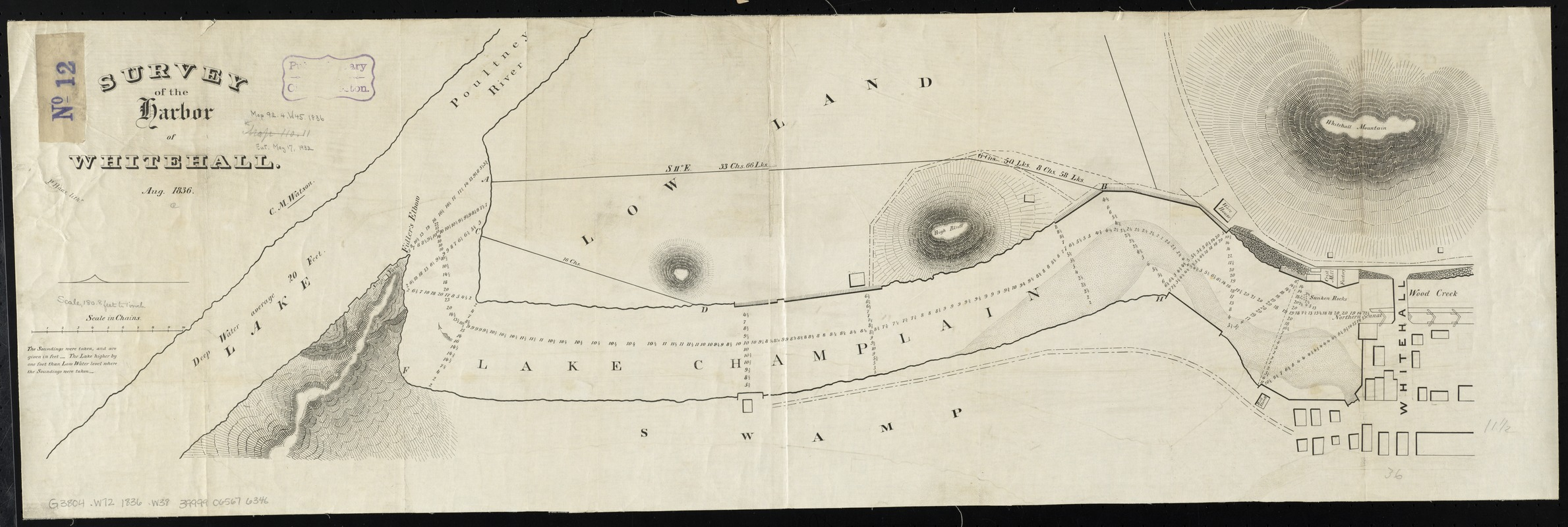 Survey of the harbor of Whitehall
