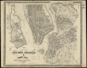 Map of the cities of New York, Brooklyn & Jersey City