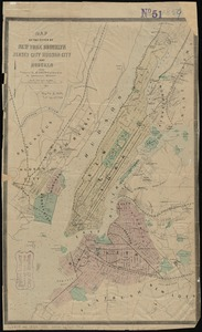 Map of the cities of New York, Brooklyn, Jersey City, Hudson City and Hoboken