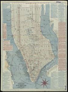 Citizens & travelers guide map in, to and from the city of New York and adjacent places