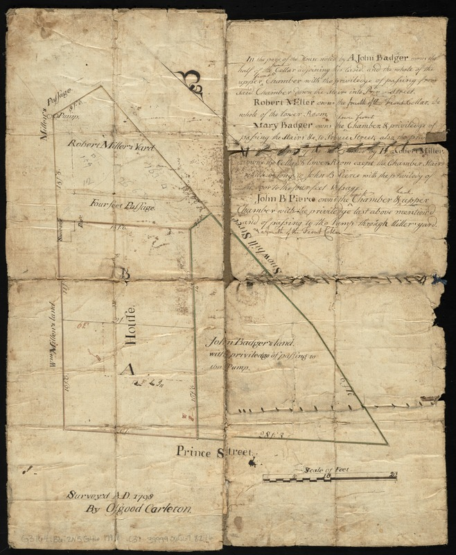 [Plan of the land at Prince Street and Snowhill Street, Boston]