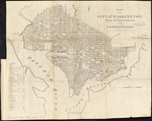 Plan of the city of Washington, seat of government of the United States