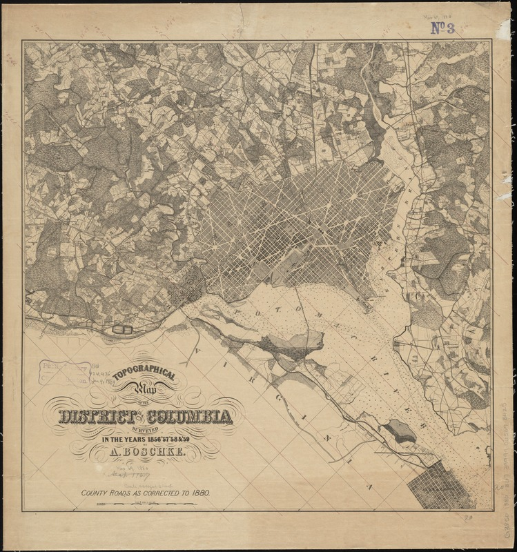 Topographical map of the District of Columbia