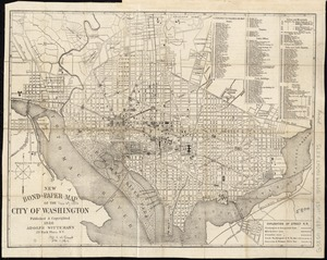 New bond paper map of the city of Washington