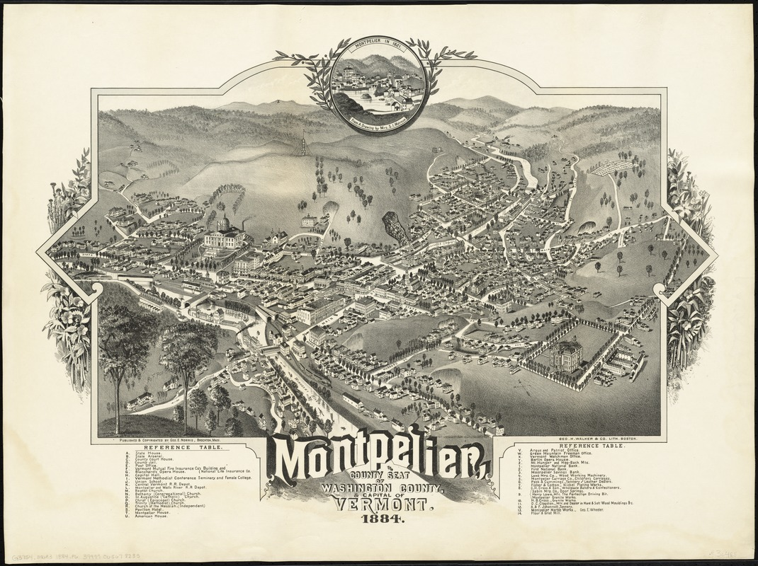 Montpelier, county seat of Washington County & capital of Vermont