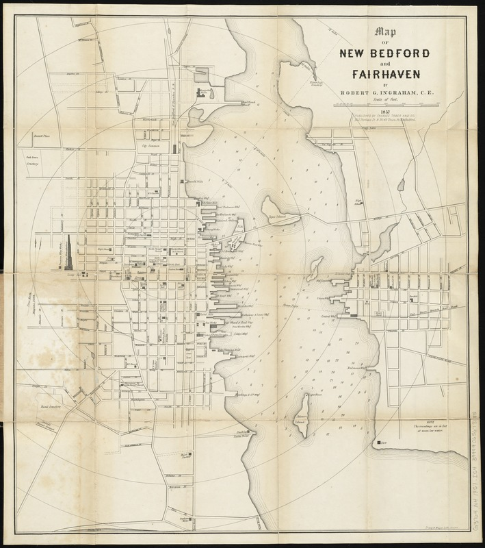 Map of New Bedford and Fairhaven