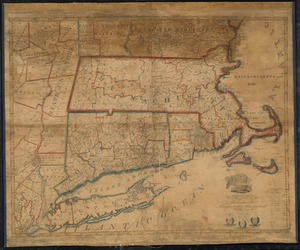 A map of Massachusetts, Connecticut and Rhodeisland