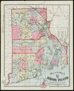 Map of the State of Rhode Island and Providence Plantations
