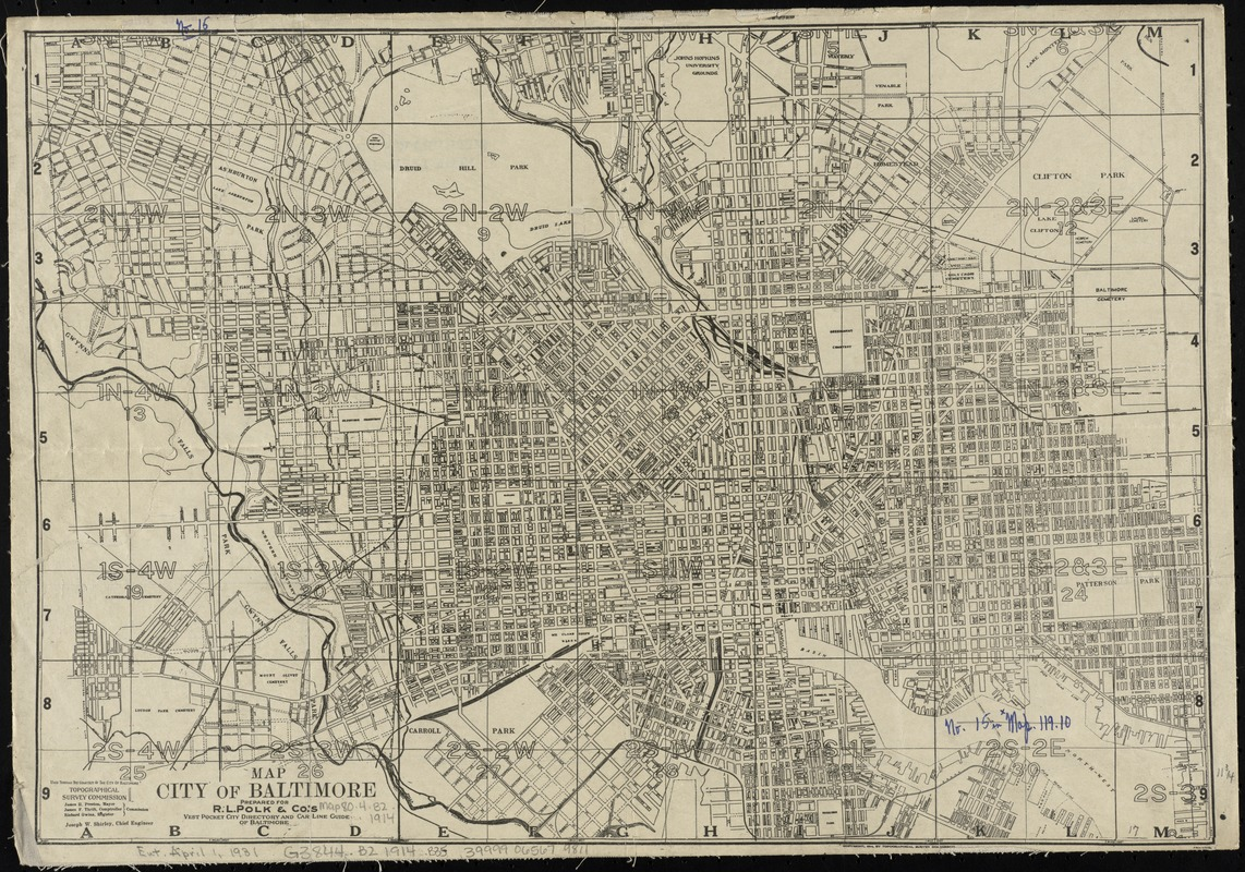 Map City of Baltimore