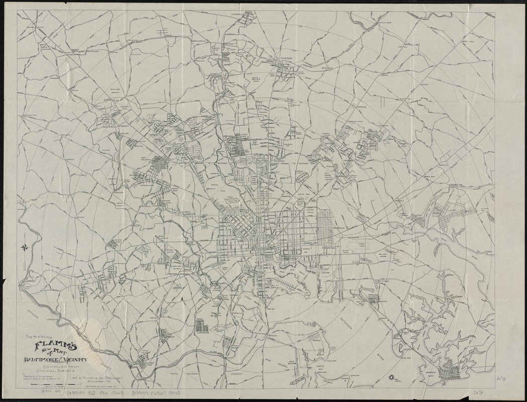 Flamm's new map of Baltimore and vicinity