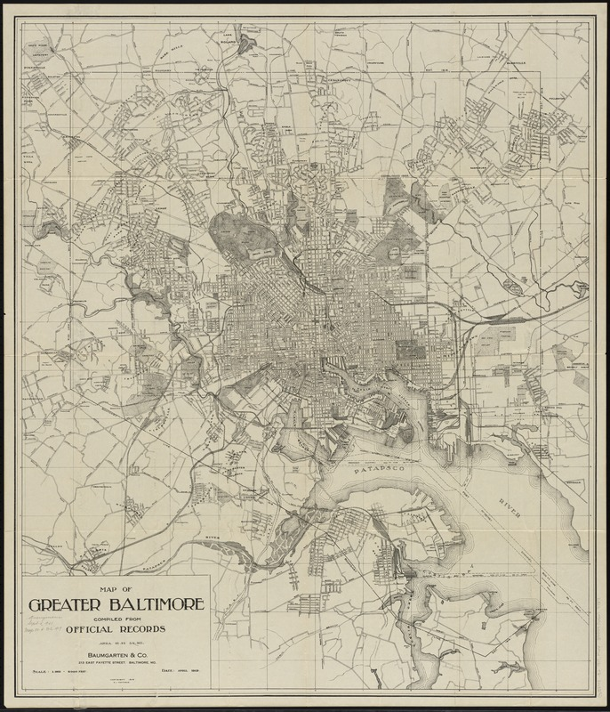 Map of greater Baltimore, compiled from official records