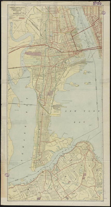 Hammond's complete map of Jersey City, Bayonne and Hoboken