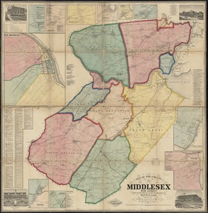 Map of the County of Middlesex, New Jersey