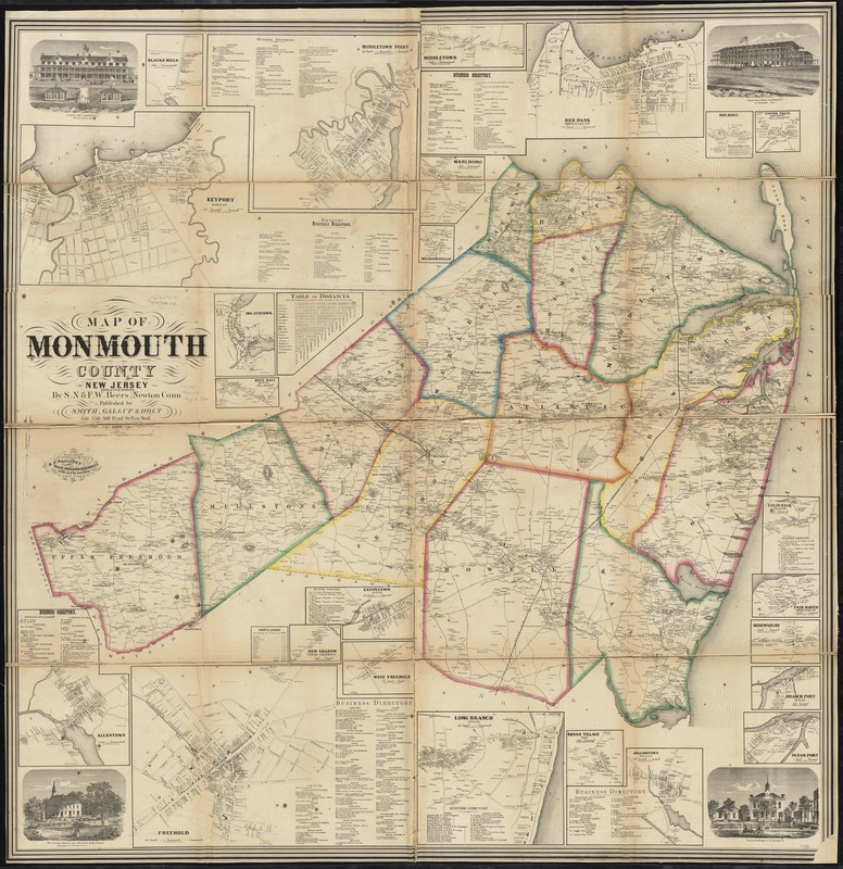 Map of Monmouth County, New Jersey