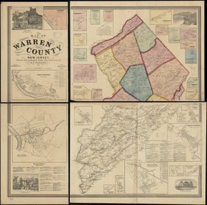Map of Warren County, New Jersey