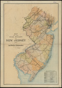 Map of the rail roads of New Jersey 1887
