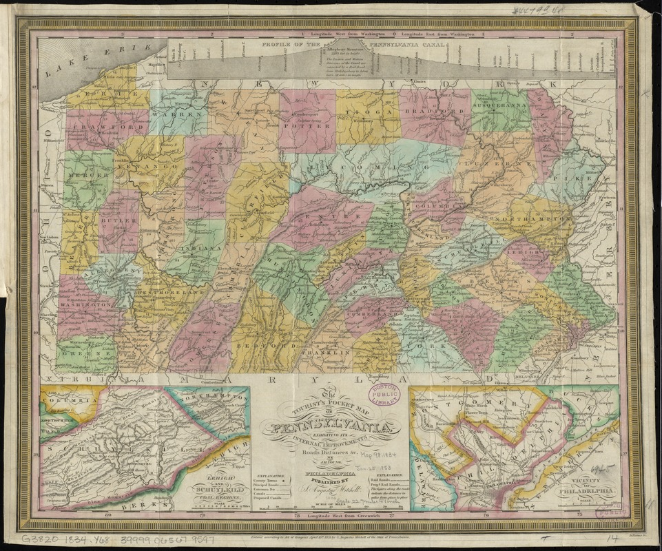 The tourist's pocket map of Pennsylvania