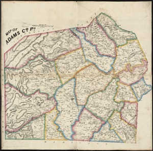 Map of Adams Co., Pa
