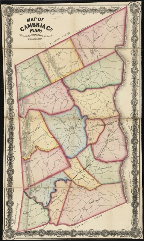 Map Of Cambria Co Penna Digital Commonwealth - Map of penna