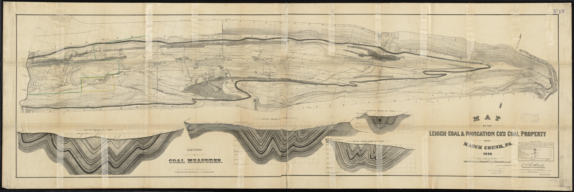 Map of the Lehigh Coal & Navigation Co.'s coal property near Mauch Chunk, Pa