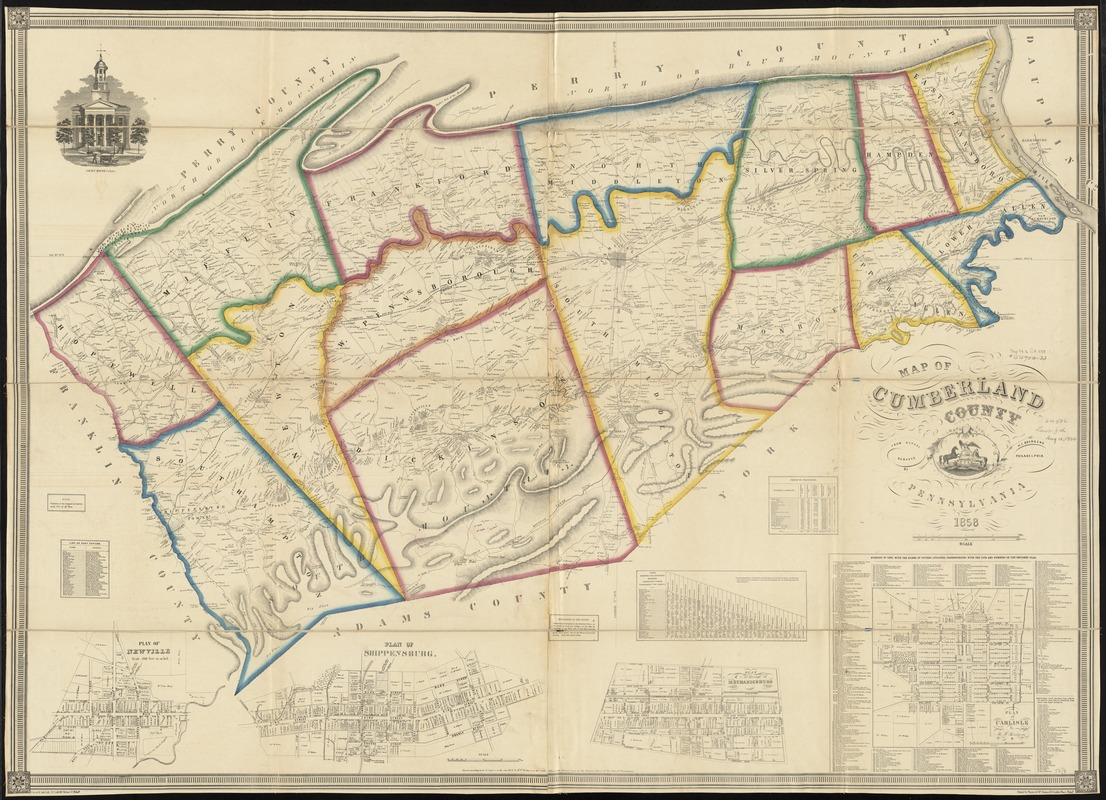 Map of Cumberland County, Pennsylvania