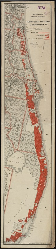 Map showing the lands & waterway of the Florida Coast Line Canal & Transportation Co