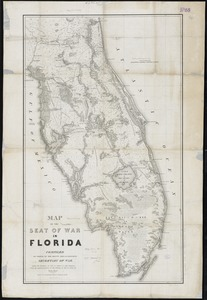 Map of the seat of war in Florida