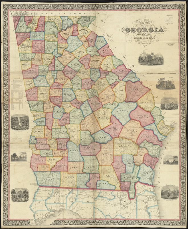 Map of the state of Georgia