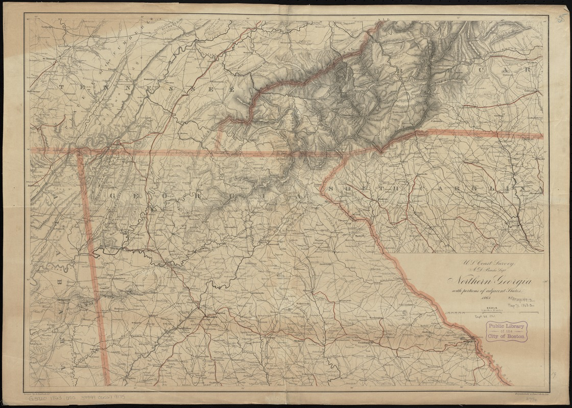 Northern Georgia with portions of adjacent states