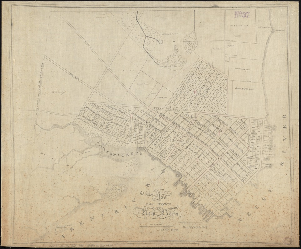 A plan of the town of New Bern