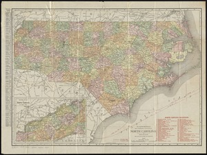 The Rand McNally new commercial atlas map of North Carolina