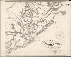 E. & G.W. Blunt's map of Charleston and vicinity