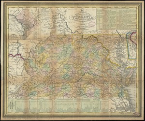The tourist's pocket map of the state of Virginia